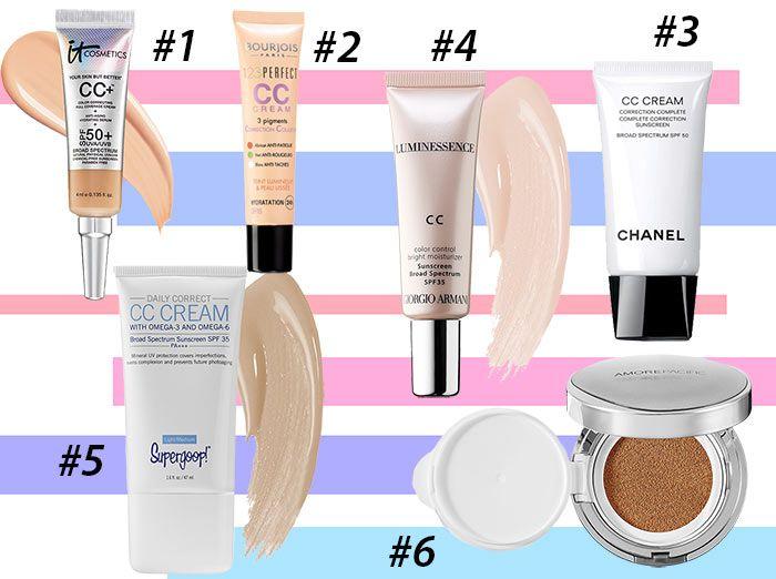 Differences Between BB, CC & DD Creams: Best CC Creams