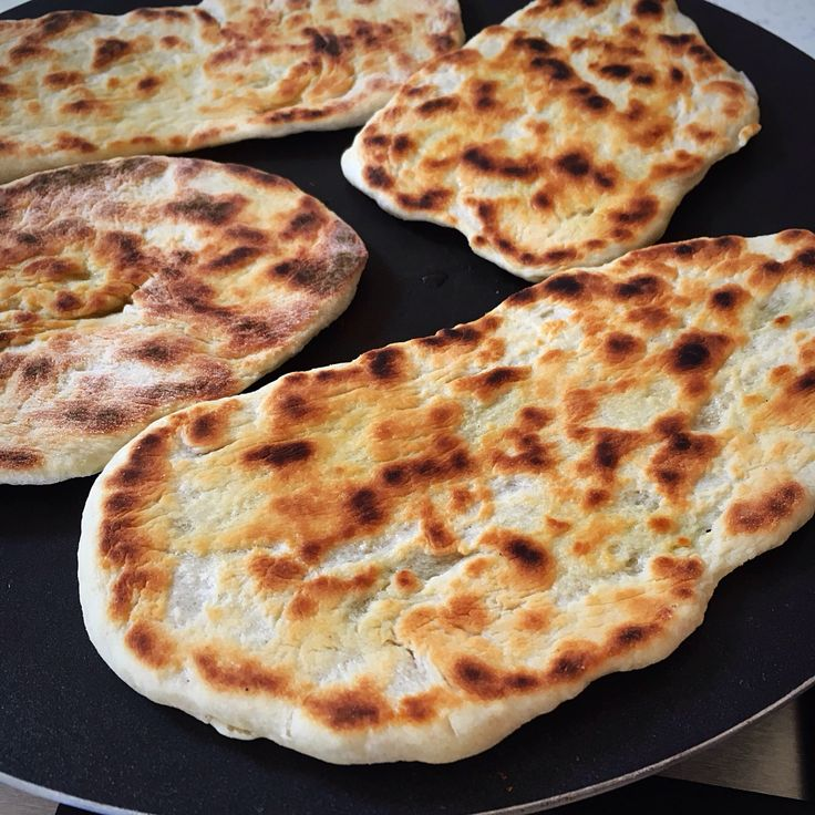 Sourdough naan breads… Sourdough starter discard recipe