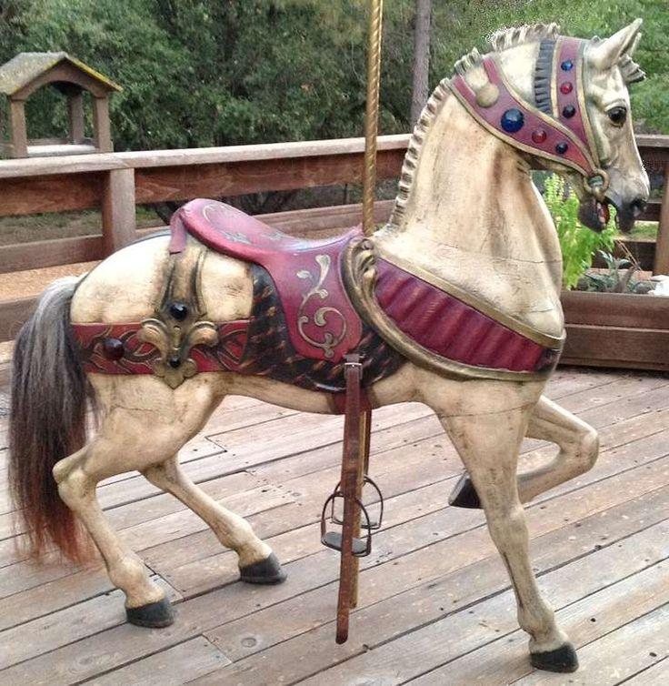 Turn of the Century Dentzel Standing Carousel Horse image 2