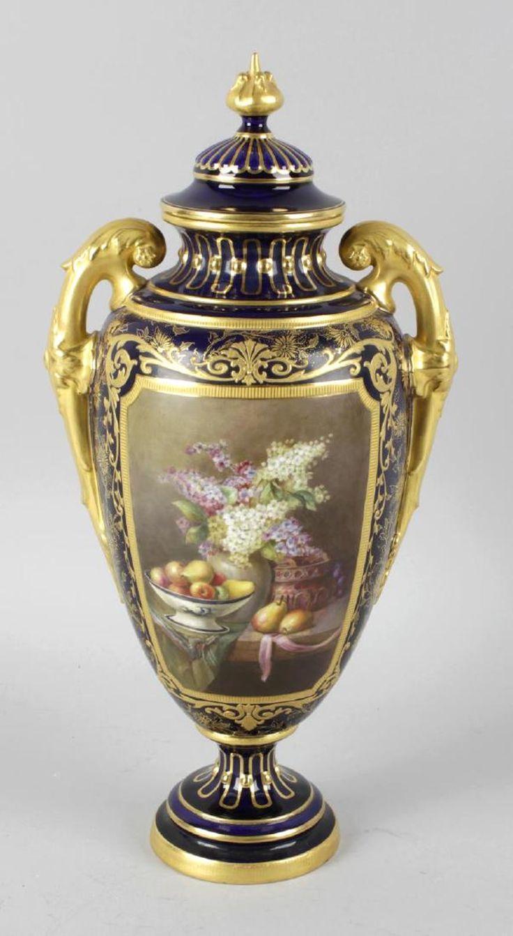 598 best vases images on pinterest flower vases jars and vases a royal worcester bone china twin handled vase and reviewsmspy