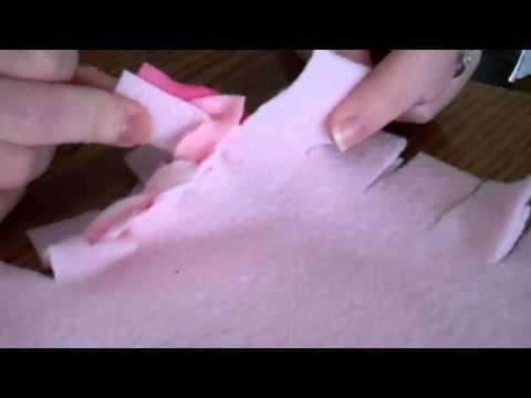 Braided fleece blanket tutorial