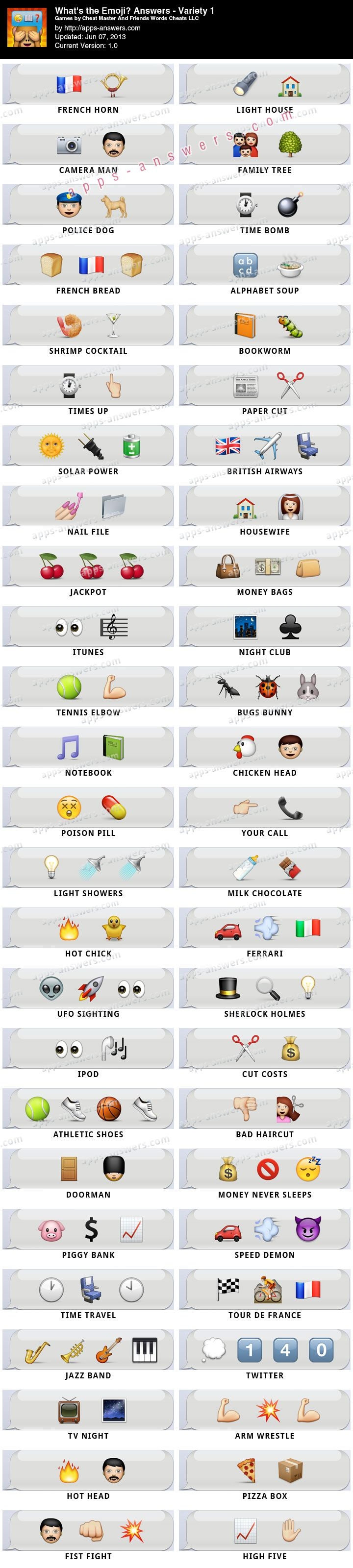 What's the Emoji? Answers Variety 1 50/50 - Apps Answers #apps-answers #emoji #answers #apps