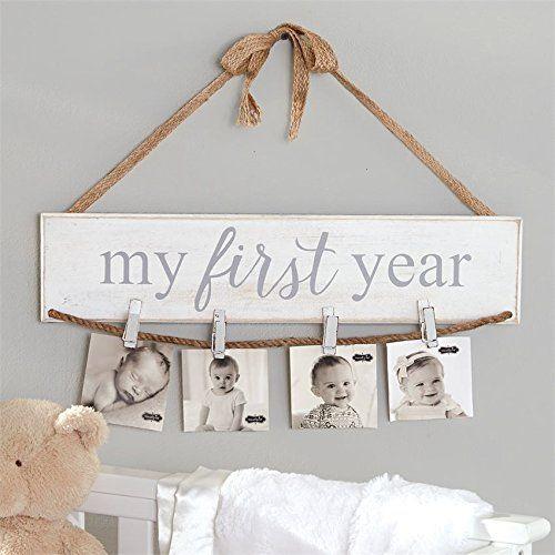 My First Year Wall Photo Holder By Mud Pie Mud Pie