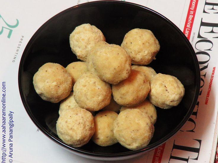 Kesa Mithoi   Rice Flour Laddu   Chawal ke Laddu from Assam