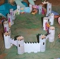 Happy Hearts At Home: Make a Castle with Recycled Paper Items