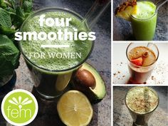Four Smoothies for Women: Lusty Lady Libido-Enhancing Smoothie, Bloat Busting Juice-Smoothie, Blood Sugar Stabilizer, Liver Support Detox Smoothie