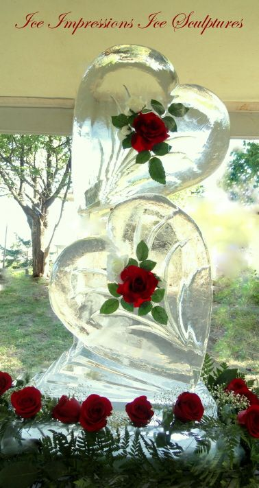 wedding ice sculpture i like this but i could never afford it