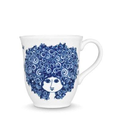 Kopp, Rosalinde, blå, 35 cl - 4 stk