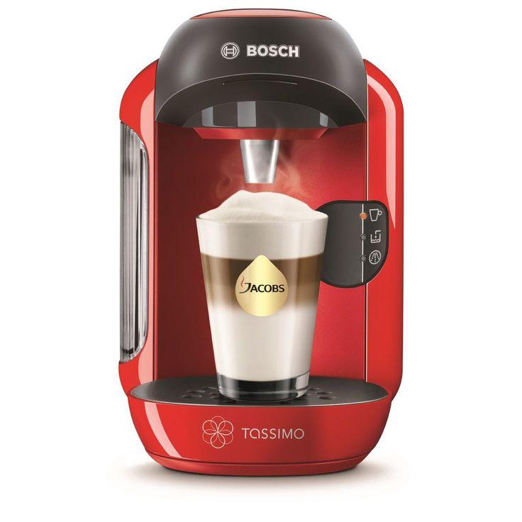 Espressor Bosch Tassimo Vivy TAS 1253, 1300 W, 3.3 bar, 0.7 l, Capsule, Rosu. Cu Bosch Tassimo Vivy TAS 1253 ai o gama larga de bauturi pe baza de cafea si ceai, printr-o apasare de buton. Tipuri de bauturi: Cafea; Espresso; Caffe crema; Cappuccino; Latte macchiato; Ciocolata calda; Ceai; Lapte cald.  Pret, pareri, forum si review.