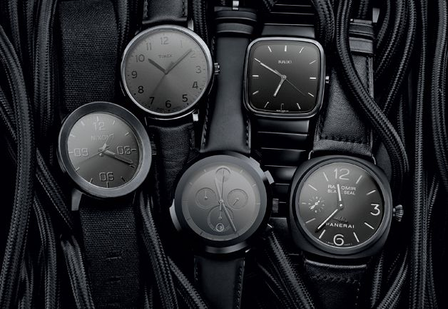 Blacked-Out Watches
