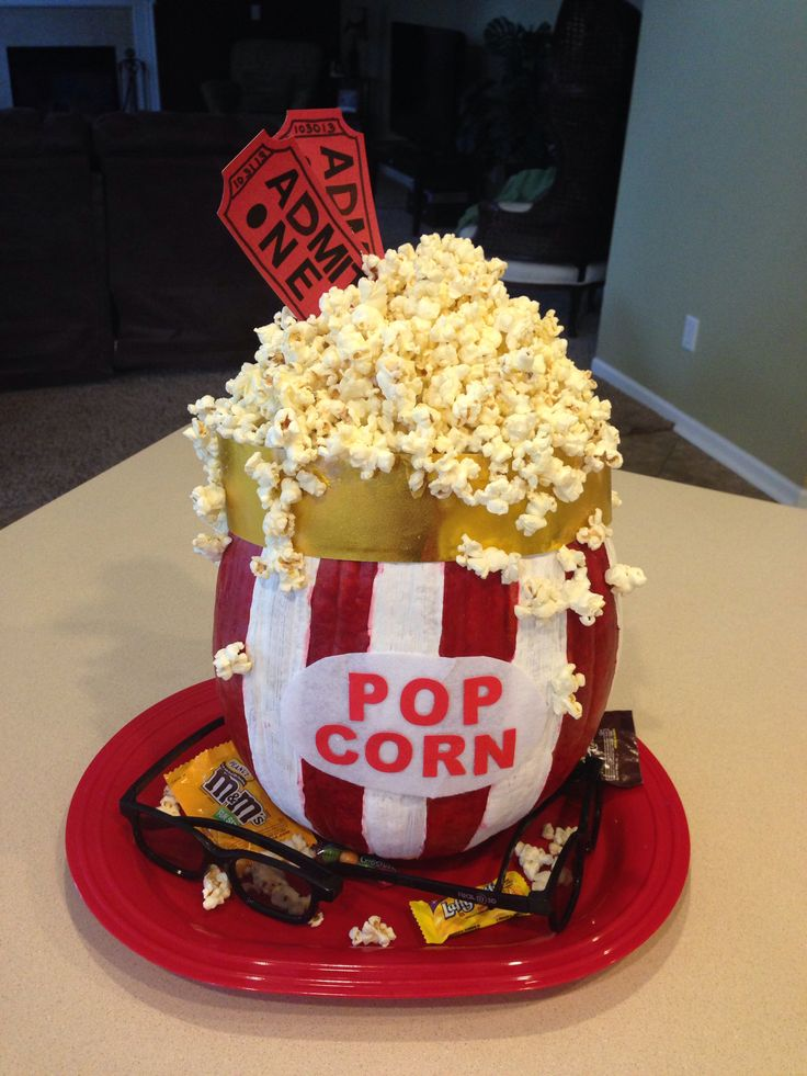 popcorn pumpkin decorating contest idea - Pumpkins Decorations