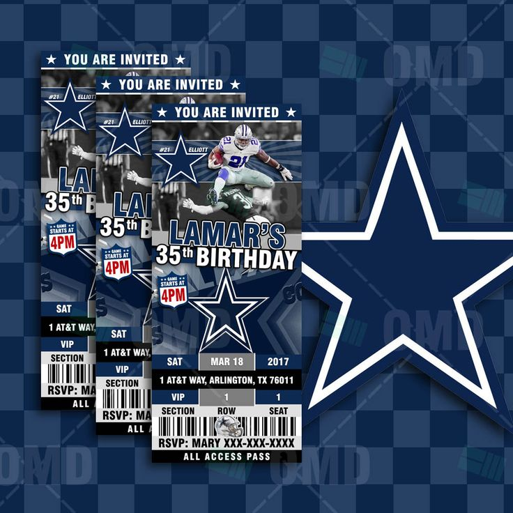Best 25 Dallas cowboys tickets ideas – Dallas Cowboys Party Invitations