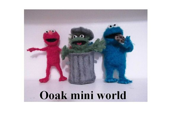 Ooak Needle felted TV and film character the by Ooakminiworld