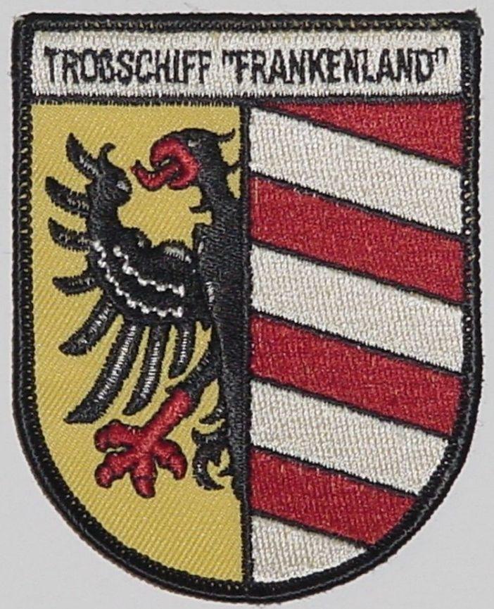 "Aufnäher Patch Troßschiff ""Frankenland"" A1439"