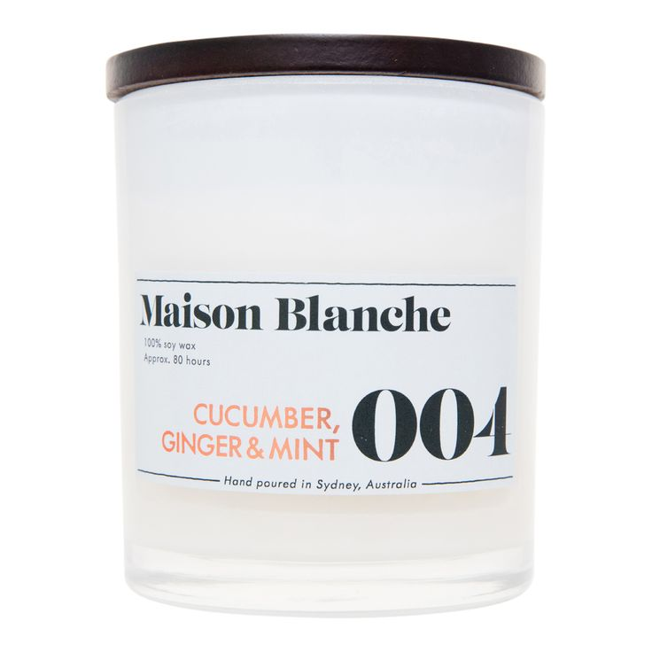 004 Cucumber, Ginger & Mint Large - Maison Blanche