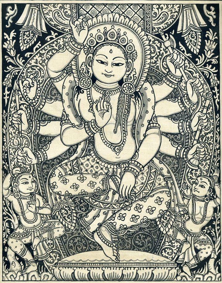Nrtyanatha Lokesvara by Gyankar Bajracharya