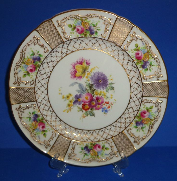 ROYAL DOULTON PLATE HAND PAINTED GOLD TIFFANY ANTIQUE