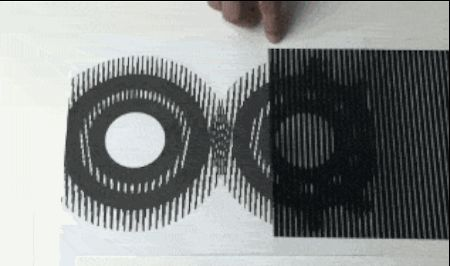 These still images start moving once a grating is passed over them. | 17 Mind-Mangling Optical Illusion GIFs