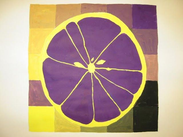 Fruit slice w/complementary colors