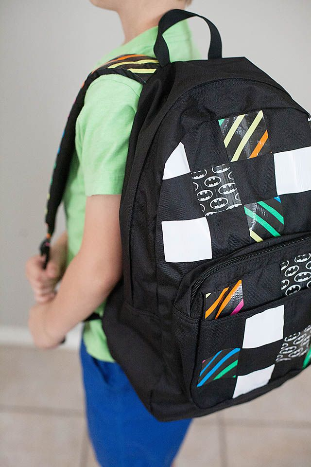 "Hardware-able: Check your local hardware and drug stores for ""designer"" duct tape to personalize plain Joe and Jane backpacks! #backtoschool #diy #backpack"