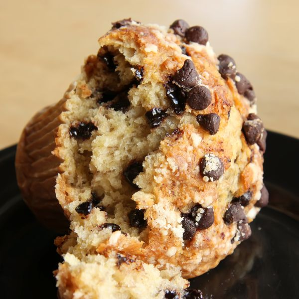 Moist Banana Chocolate Chip Muffins Recipe from Grandmother's Kitchen