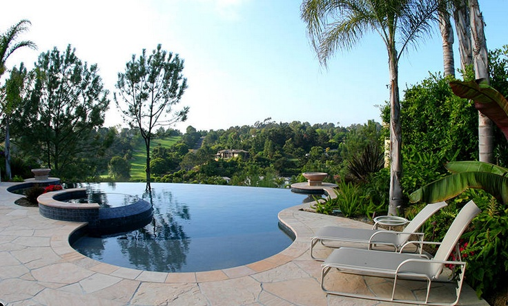 17 best images about pools on pinterest chevy chase for Hillside pool ideas