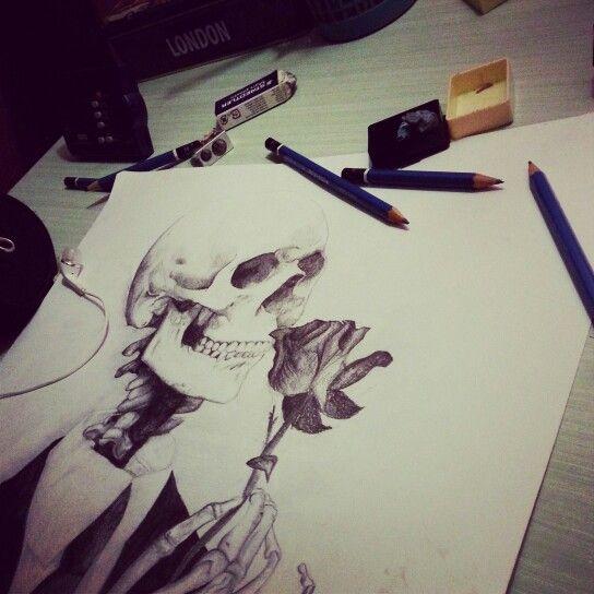 #Pencils #Skull