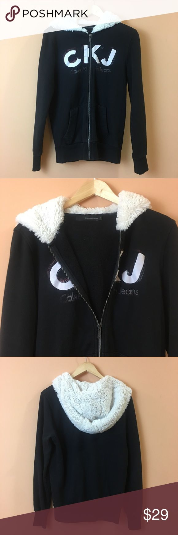 """Men's Calvin Klein Jeans Zip Up Hoodie Sweater Men's Calvin Klein Jeans Zip Up Hoodie Sweater. Fleece Lined. Pit to pit 20""""/ length 26"""" Calvin Klein Jeans Sweaters Zip Up"""