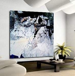 Pintura abstracta contemporánea totalmente pintada a mano sobre un lienzo montado en bastidor doble. Excelente cuadro de gran calidad, ideal para decorar tu salón o dormitorio.