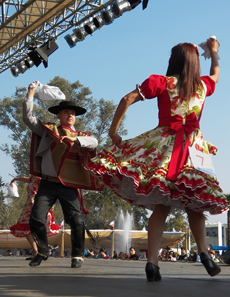 Traditional dance of Chile