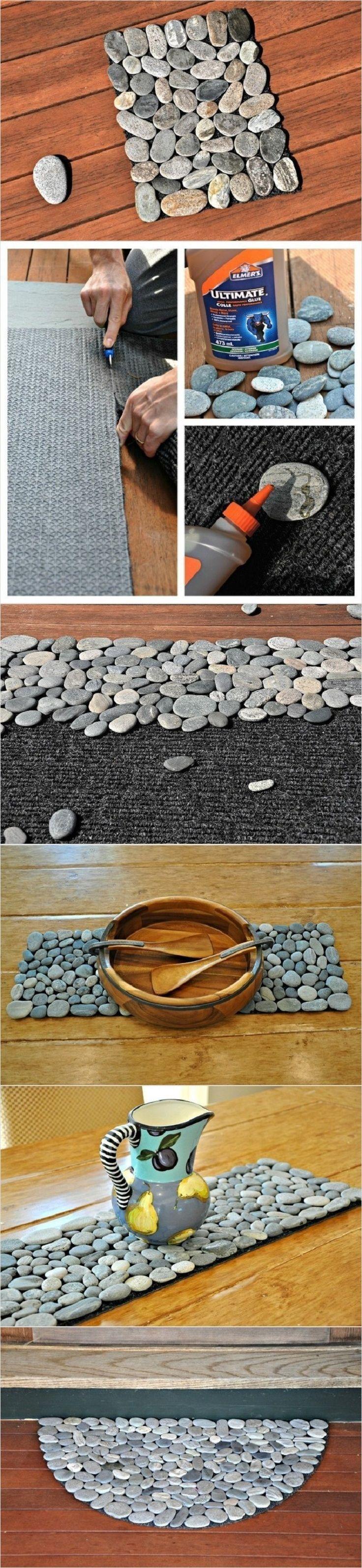 Cuadro con piedras de río.