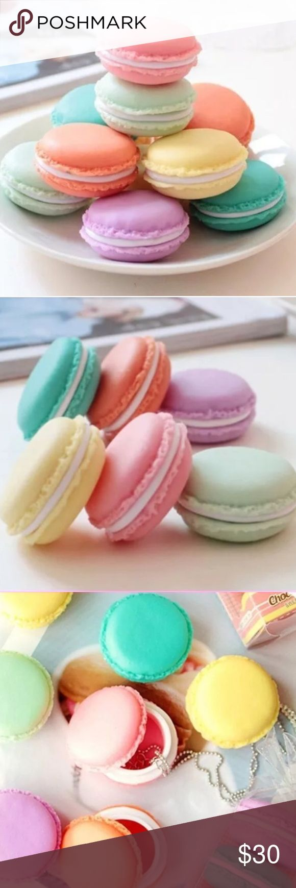 3 pastel macaroon boxes New. Cute macaroon boxes, set of 3 for @11addie. calicactus Accessories