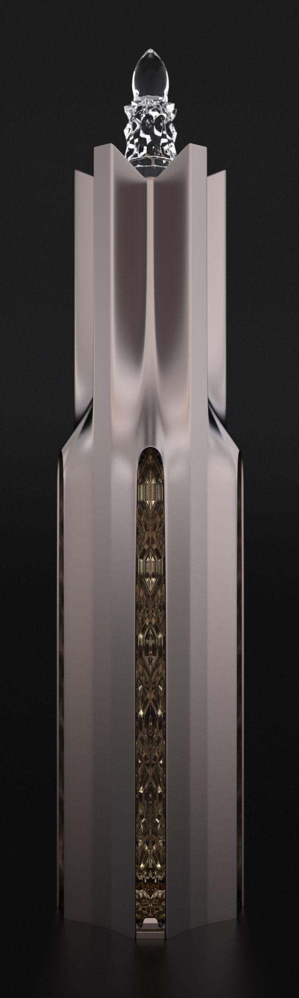 Cathedral cognac bottle by Ivan Venkov, via Behance