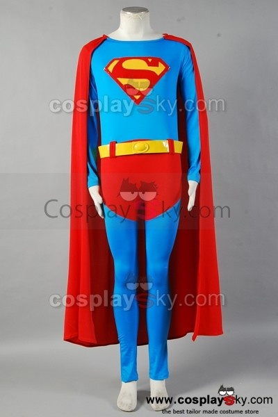 Superman Christopher Reeve Jumpsuit Cosplay Costume , Tailor made in your own measurements,NOT MASS PRODUCTION, best choice for Halloween and superman fans.