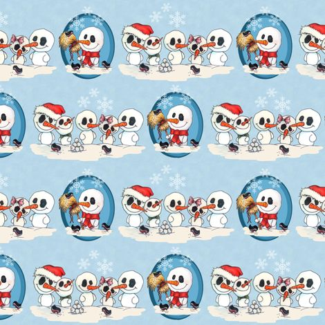 Let it snow men fabric by sansdesign on Spoonflower - custom fabric