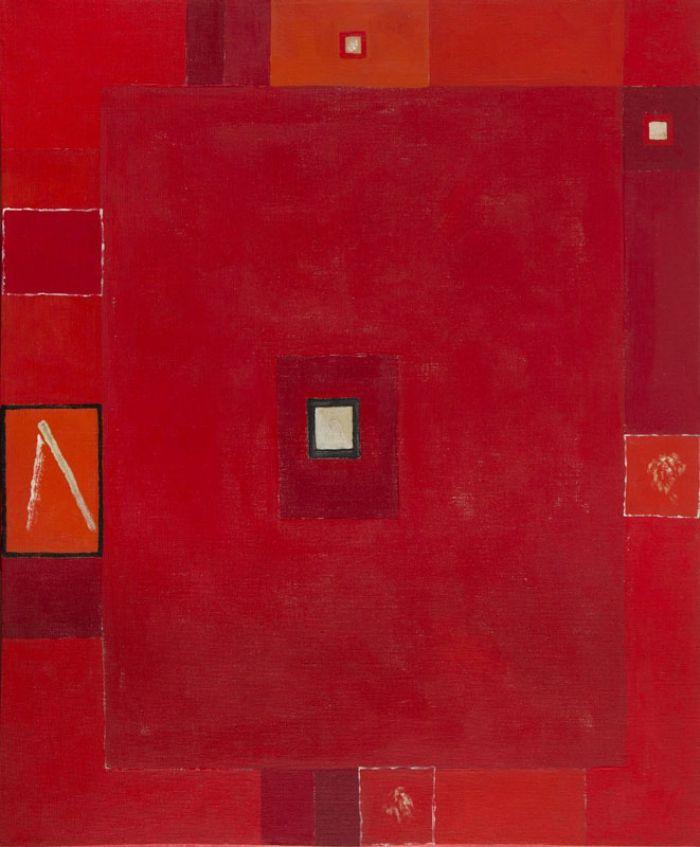 Jerzy Nowosielski - Abstrakcja czerwona II, 1973