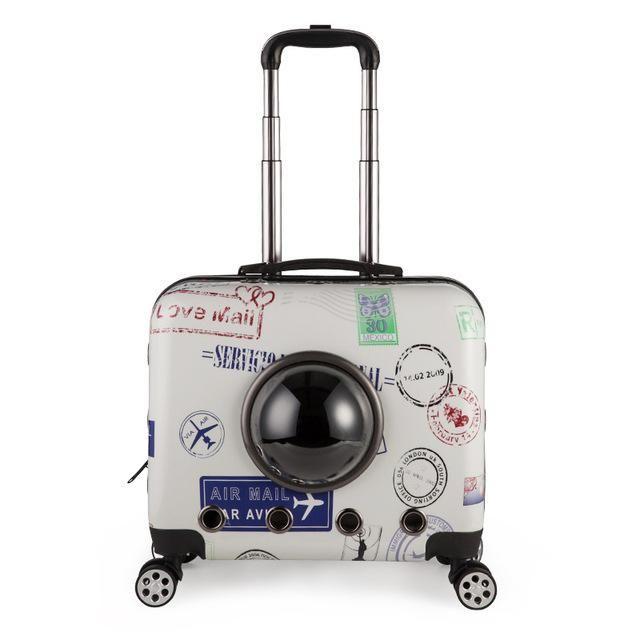 8eb03d00e80a Four-wheels Dog Travel Case | Bronx | Dog travel, Pet travel, Pet ...