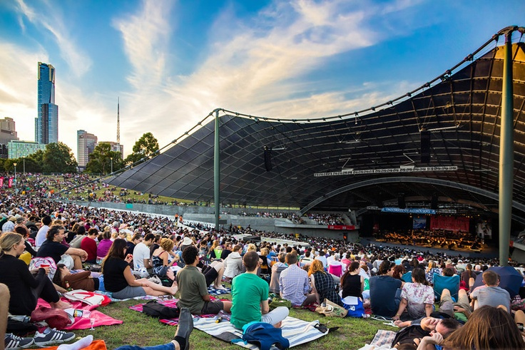 Melbourne Symphony Orchestra performs at Sidney Myer Music Bowl. http://polymu.com/