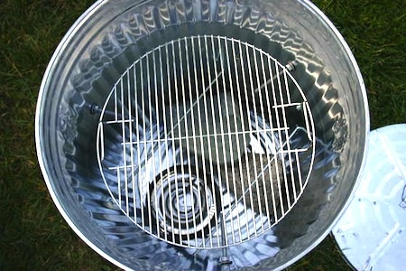 Home Made Galvanized Trash Can Bbq Smoker With Electric Heat Coil Smoked Bbq On The