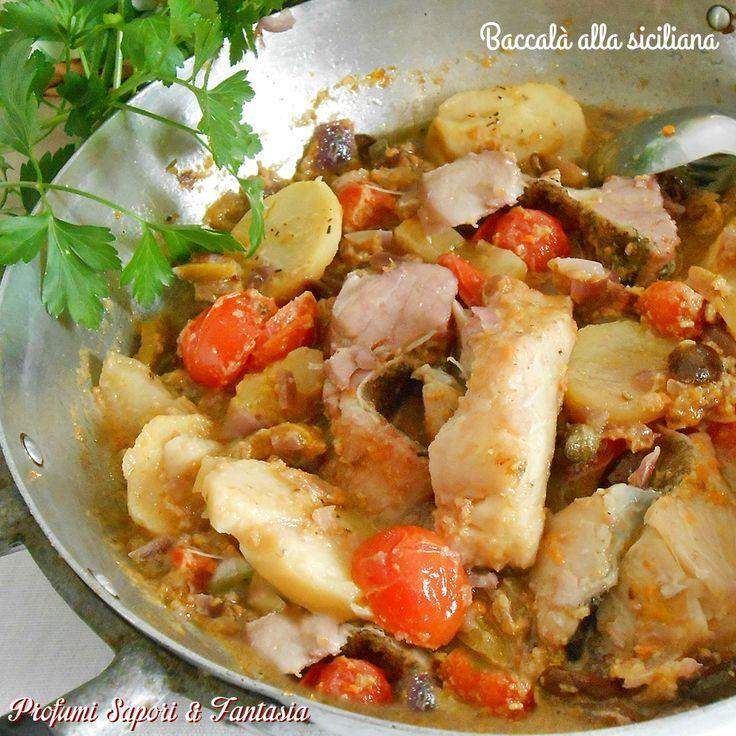 Il baccalà alla siciliana è una delle ricette che preferisco di questo gustoso pesce. I sapori creano un'alchimia incredibile ed è gradita anche la polenta