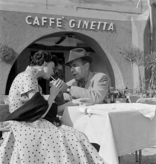 "Ava Gardner & Humphrey Bogart sul set - ""La contessa scalza"" (The Barefoot Contessa), 1954"