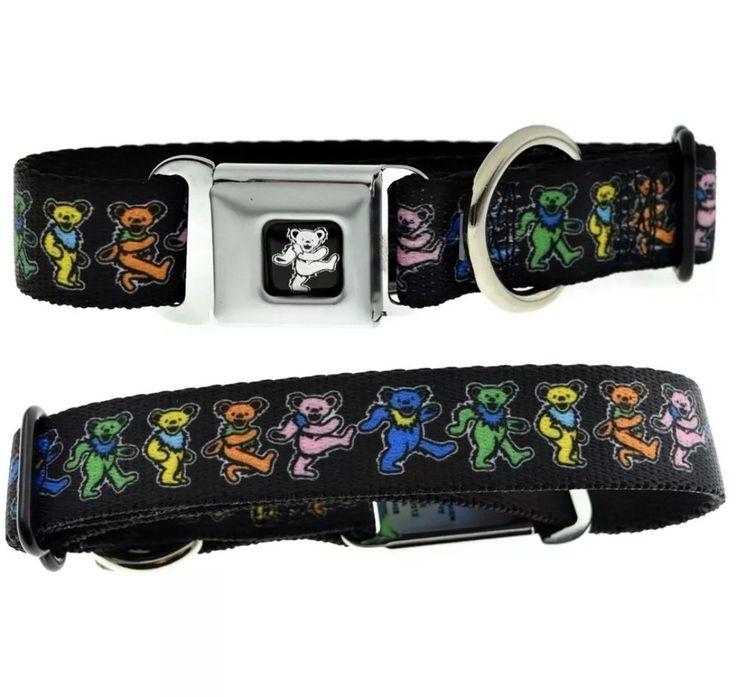 Grateful Dead Dancing Bears Seatbelt Style Buckle Dog Collar Adjustable - MEDIUM #GratefulDead