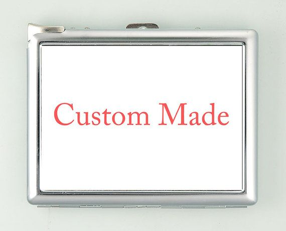 Custom Made Cigarette Case with Lighter Wallet Business Card Holder CUSTOM or PERSONALIZED