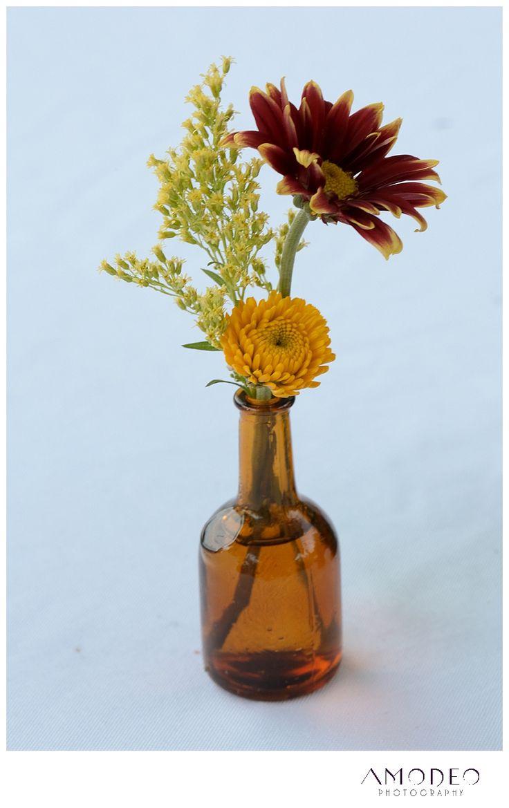 Wedding centerpieces rustic flowers vintage