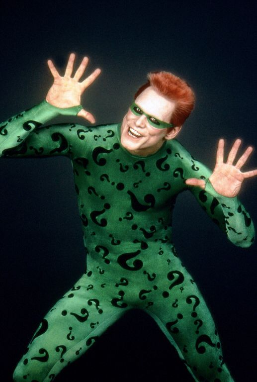 Jim Carrey As THE RIDDLER From The Batman Movie BATMAN FOREVER