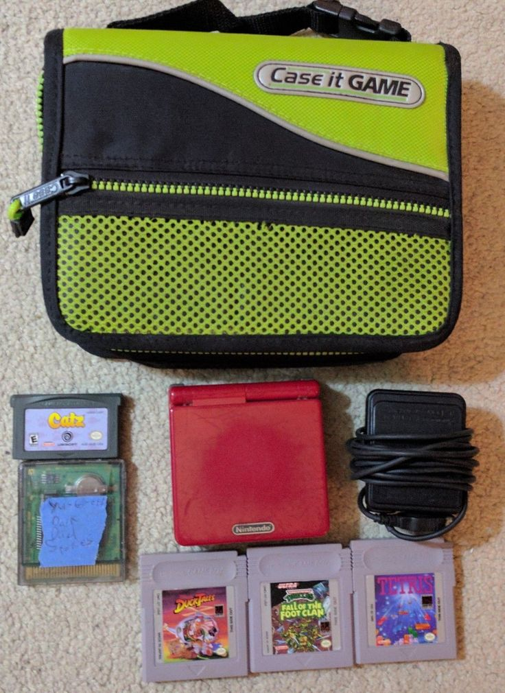 #videogames #Gamers #nintendo Nintendo Gameboy Advance SP with 5 Games – Duck Tales, Tetris, and More! 46.99      Item specifics    									 			Condition:  												 																	 															  															 															 																Used: An item that has been used...