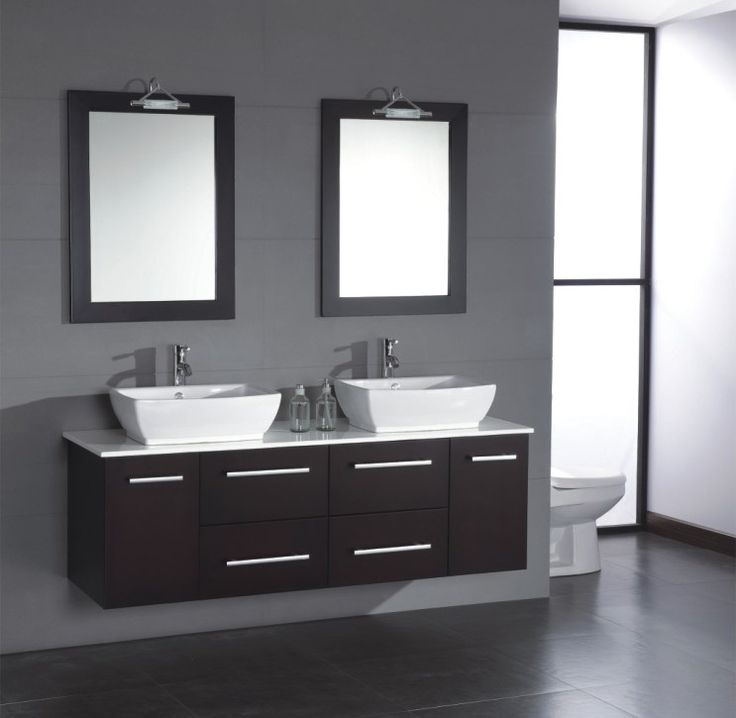fantastic white sinks and faucets above floating bathroom cabinet ideas under wooden framed wall mirrors
