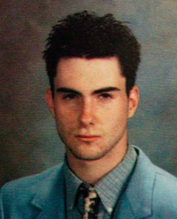 Celebrity Yearbook Photos  Adam Levine