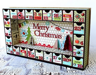 Want to make this advent calendar.  From paneling, but up and down not side to side...