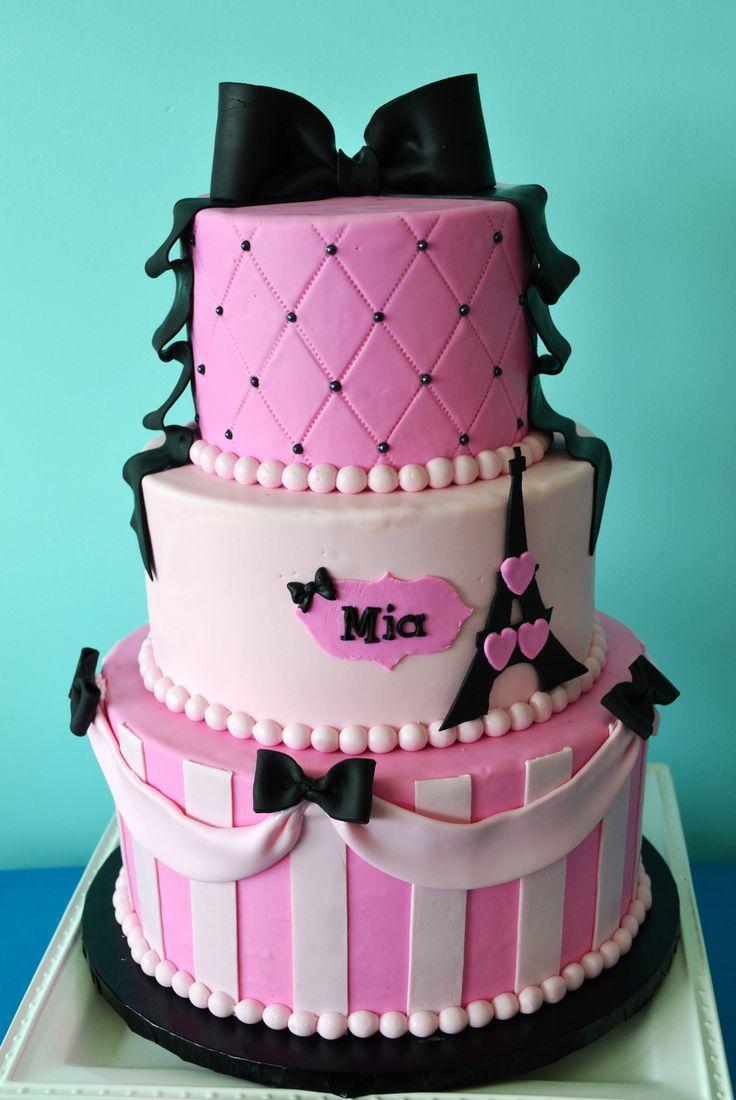 Paris Themed Birthday Cake by Simply Sweet Creations (www.simplysweetonline.com)